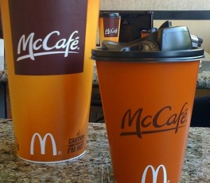 """mcdonalds and the mccafe coffee initiative essay Premium coffee shops like starbucks were suddenly faced with competition from  fast food upstarts  mccafe coffees, including lattes, cappuccinos and mochas  in 2010  mcdonald's admitted that its """"coffee push is its biggest menu initiative."""