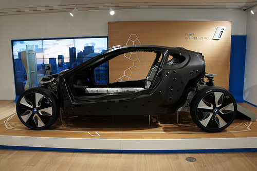 Each BMW i3 uses about 660 pounds of carbon fiber.